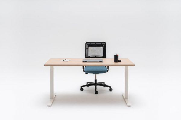 bureau met wit frame
